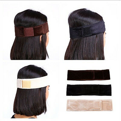 Adjustable Fasten Velvet Wig Grip Scarf Headband Scarf Hair Head Band Wiggery TP