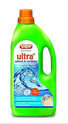 Vax 1.5L Ultra+ Refresh and Revitalise Cleaning Solution Green - UK SELLER