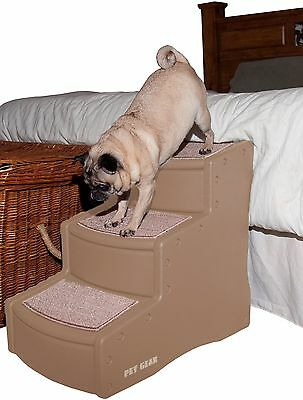 Pet Gear 3 Step Stairs - Tan - SAME DAY DISPATCH