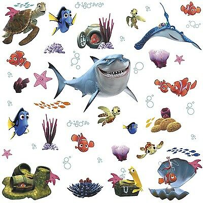 RoomMates Children's Repositonable Disney Wall Stickers Finding Nemo Multi-Color