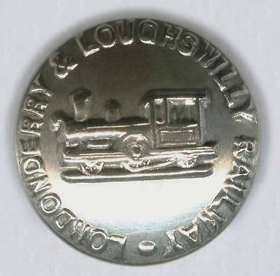 Londonderry & Loughswilly Railway Large Nickel Button