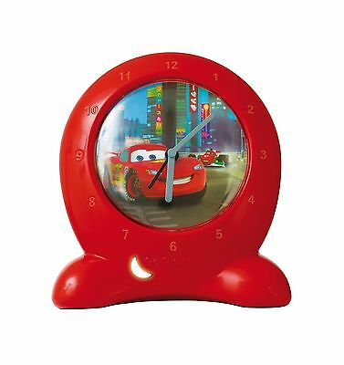 Disney Cars Go Glow Clock Bedtime Trainer - Red Assorted Colours Car