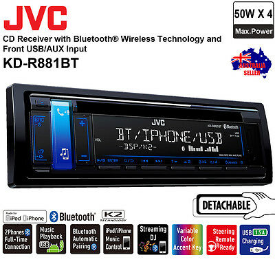 NEW JVC KD-R881BT CD USB AUX IN BLUETOOTH Car Radio Stereo Receiver Player