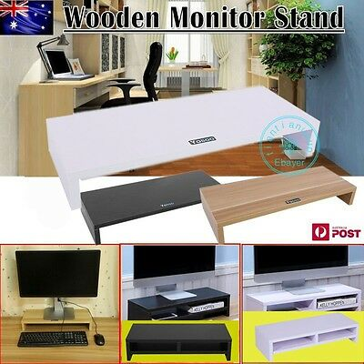 1/2Layer Wooden Monitor Stand LCD Computer Monitor Laptop Riser Desktop Bracket