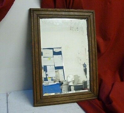 Victorian Rustic Bevelled Wall Hall Mirror Carved Wood Frame