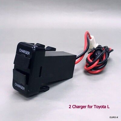 NEW Dual USB Built-in Dash Charger DC12V Output 2.1A/5V for TOYOTA L Car #Mgtc