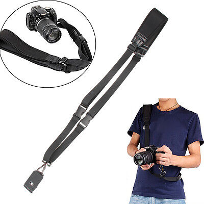 Quick Rapid Shoulder Sling Belt Neck Strap For Canon Nikon Camera DSLR SLR Black