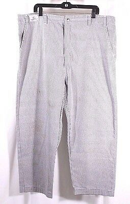 Uniforms to You Size 44 x 26 Checkered Chef Pants Poly Cotton Blend