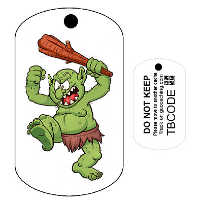 Troll Travel Tag (Travel Bug) For Geocaching - Trackable Tag - Unactivated