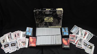 L@@K UNSEARCHED Star Wars Premiere Card Game Lot + Young Jedi Cards1995 W@W N/R