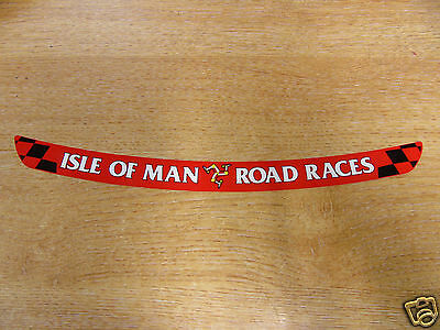 Isle of Man Road Races - TT Visor Decal Sticker - RED