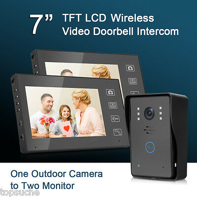Wireless KIT VIDEOCITOFONO MONOFAMILIARE VIDEO CITOFONO TOUCH A COLORI 2 KIT IT
