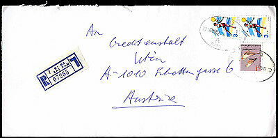 Isreal 1998 Registered Airmail Commercial Cover To Austria #C38940