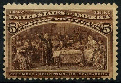 USA 1893 SG#239a 5c Columbian Exposition Unused No Gum #D39768