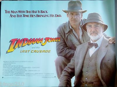 Indiana Jones And The Last Crusade 1989 Quad Poster Harrison Ford Sean Connery