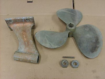 Vintage Shaft Drive Boat Propeller Brass Prop NI-BRAL 165 Cupped edge 14X9