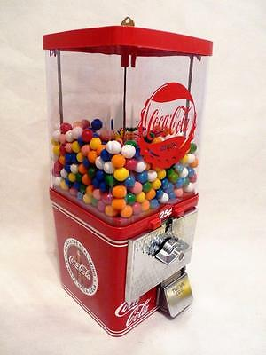 25 cent  vintage gumball machine Coca cola