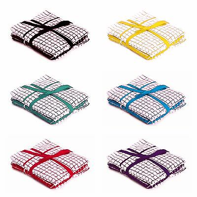 Pack Of 6  Hugg 100% Cotton Kitchen Cleaning Dish Cloths Drying Terry Tea Towels