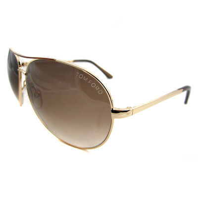 37f7c3ee7a15 TOM FORD SUNGLASSES 0035 Charles 772 Gold Rose Brown Gradient ...