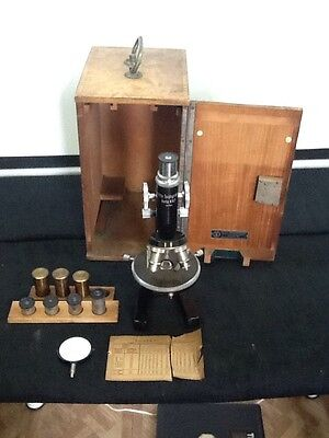 Rare Old German Made Otto Teichgraber Berlin Microscope