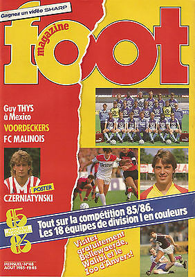 Foot magazine n°48 Aout 1985 avec poster