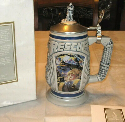 New Original Box Avon Collectibles 1997 Tribute To Rescue Workers Beer Stein