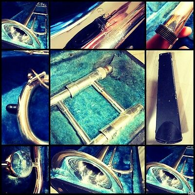 TROMBONE A. COURTOIS + CASE Silver Plated Fantastic