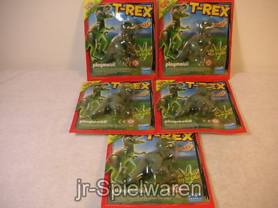 Playmobil 5x kleiner Dinosaurier T-Rex Fleischfresser Expedition Dinos gebr.