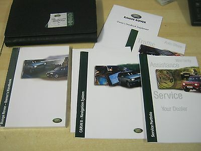 RANGE ROVER P38  HANDBOOK pack OWNERS MANUAL 1998-2004 SERVICE BOOK NEW