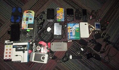 Lot Of Cell Phone Accessories & Phones, Apple,hte +, Cases,cables + New & Used