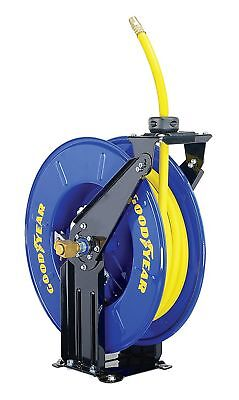 """.GOODYEAR Steel Retractable Air/Water Hose Reel with 3/8"""" X 50 ft. Rubber Hose"""