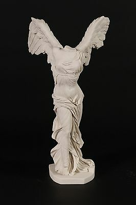 Stunning Nike / Winged Victory Carrara Marble Sculpture Classical Art Great Gift