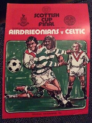 Airdrieonians v Celtic 1975 Scottish Cup Final Programme