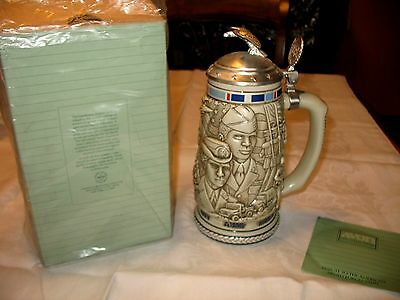 New Original Box Avon Collectibles 1990 Tribute American Armed Forces Beer Stein