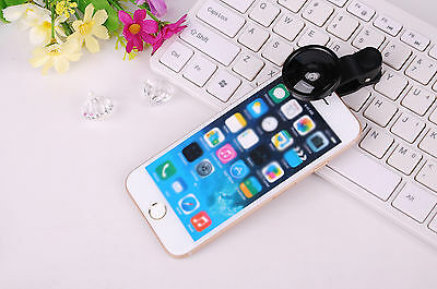 Universal 0.4X Zoom Super Wide Angle Selfie Cam Clip Lens For Mobile Phone iPad