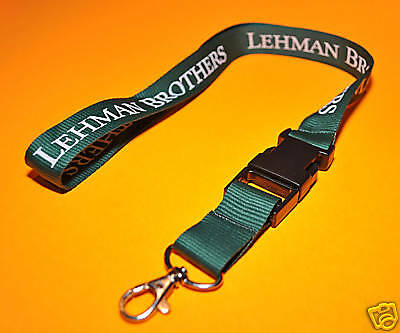 Lehman Brothers ~ Lanyard / Key Holder ~ Rare & New!