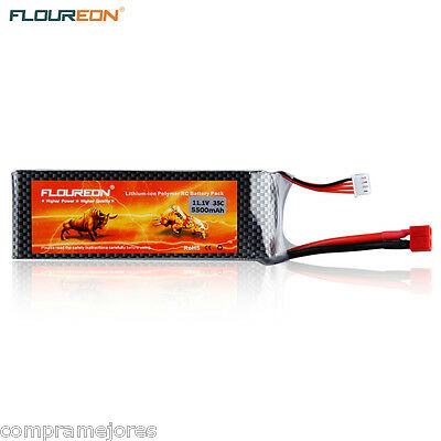 FLOUREON 11.1V 5500mAh 3S 35C Lipo RC Battery Deans for RC Helicopter Truck Car