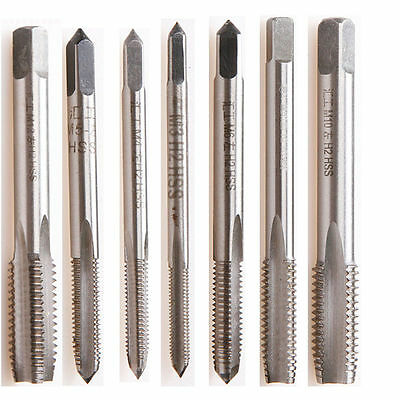 7PCS/Set HSS M3 M4 M5 M6 M8 M10 M12 Metric Thread Taper Cutting drill bits New
