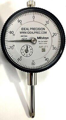 "Mitutoyo 2416S Dial Indicator, .001"" Resolution, 0-1"" Range, 0-100 Dial"