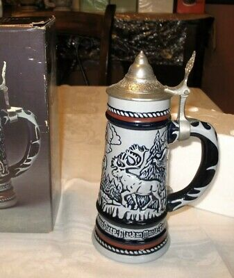 New Original Box Avon Collectibles 1976 Wild Country Collectors  Beer Stein