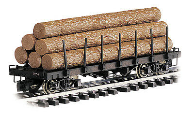 Bachmann 98470 G Log Car W/Logs, Metal Wheels, Knuckle Couplers OVER 60% OFF !!