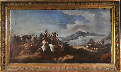 Jacques Courtois Le Bourgignon (1621-1676): Battle scene from the 17th century,