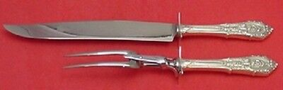 Rose Point by Wallace Sterling Silver Roast Carving Set 2pc