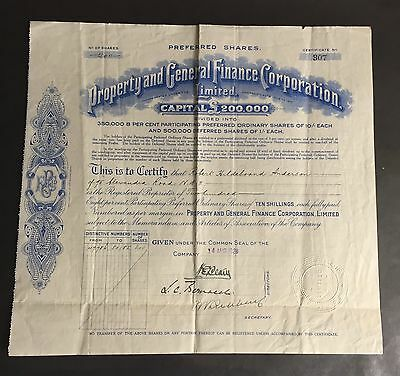 Property and General Finance Corporation