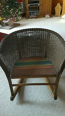 Antique Wicker Child S Rocker Rocking Chair 1930 S Vintage