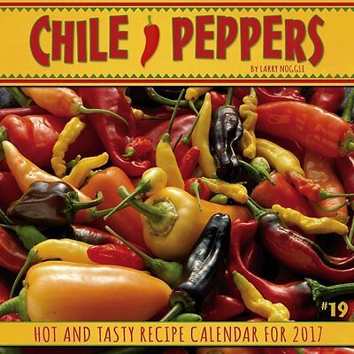 Chile Peppers 2017 Monthly Wall Calendar Spicy Jalapeno Habanero Chili Mexican