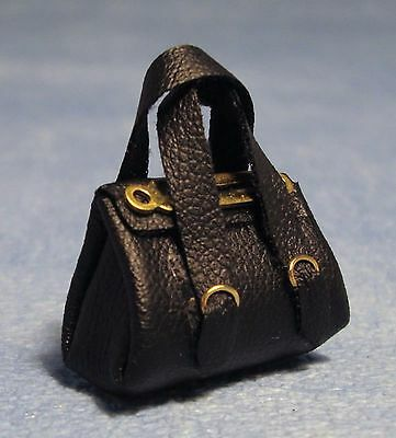 1:12 Scale Ladies Black Hand Bag Dolls House Miniatures Clothing Accessory