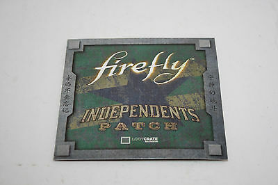 Loot Crate Exclusive Firefly Independents Patch December 2016 - Free Shipping