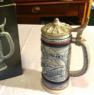 New Original Box Avon Collectible 1981 Airplane Flying Classics Beer Stein
