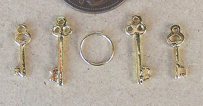1:12 Scale Set Of Four Keys Dolls House Fixture & Fittings Door Locks Fairy 1919